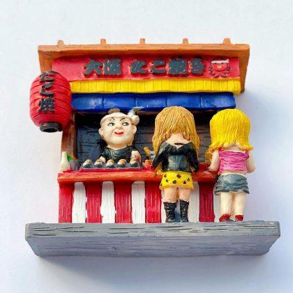 大阪たこ焼き屋台のマグネット