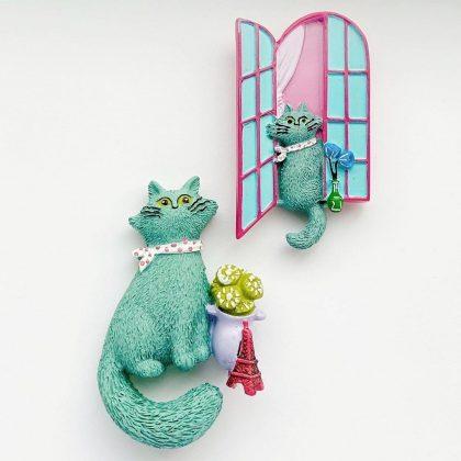 BRUNOの猫のキッチンマグネット