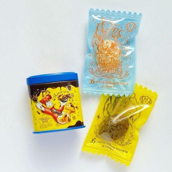 東京ディズニーランド35周年記念ドナルドダッククランチ缶のミニチュアマグネット