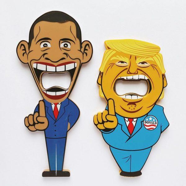 オバマ元大統領トランプ大統領アメリカ歴代大統領の栓抜きマグネット